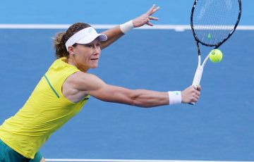 Sam Stosur in action during the Fed Cup final in Perth. (Getty Images)