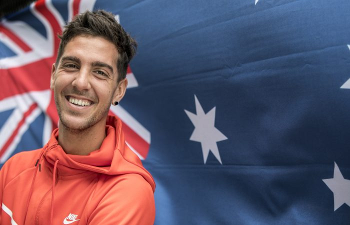 LOOKING FORWARD: Thanasi Kokkinakis is ready for the Aussie summer. Picture: Fiona Hamilton