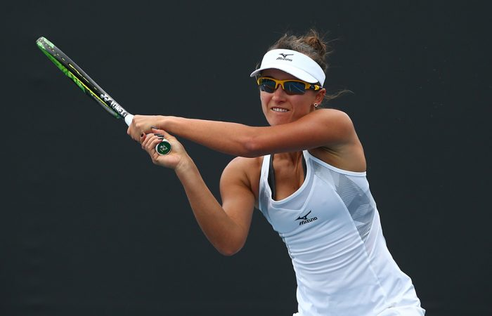 Arina Rodionova in action at the Australian Open-Play-off. (Getty Images)