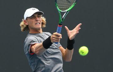 Max Purcell in action at the Australian Open 2020 Play-off (Getty Images)