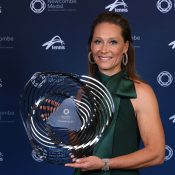 Sam Stosur wins the Spirit of Tennis Award at the 2019 Newcombe Medal, Australian Tennis Awards. (Getty Images)