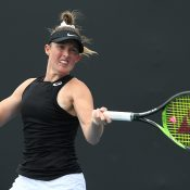 Storm Sanders in action at the Australian Open Play-off. (Getty Images)