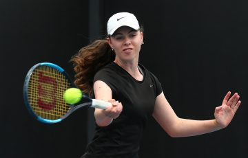 Talia Gibson in action at the December Showdown at Melbourne Park. (Getty Images)