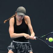 Taylah Lawless in action during her quarterfinal victory over Amy Stevens at the 18/u Australian Championships. (Getty Images)