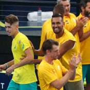 Team Australia celebrates at the ATP Cup in Brisbane; Getty Images