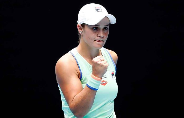 Ash Barty is eyeing another Australian Open quarterfinal appearance; Getty Images