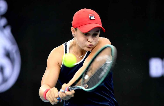 Ash Barty at the Brisbane International; Getty Images