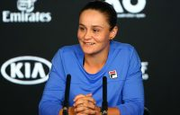 Ash Barty chats to the press ahead of Australian Open 2020. (Getty Images)