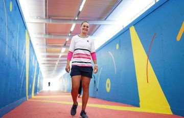 Ash Barty at the Australian Open; Getty Images