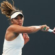 Destanee Aiava in action during Australian Open 2020 qualifying. (Getty Images)