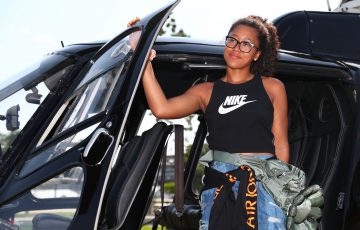 SUPERSTAR ARRIVAL: Naomi Osaka is back in Australia, exploring Brisbane via helicopter ahead of the Brisbane International. Picture: Getty Images