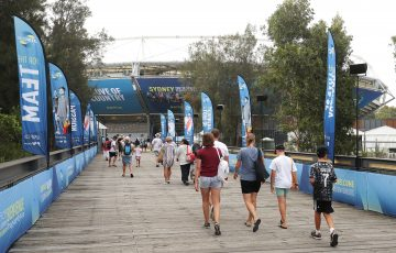 Crowds at the ATP Cup in Sydney; Getty Images