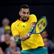 Nick Kyrgios kicked off the 2020 season with an unbeaten run at the ATP Cup in Brisbane; Getty Images