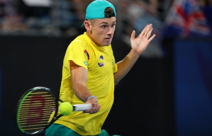 Alex de Minaur pushed world No.1 Rafael Nadal to three sets in the ATP Cup semifiinals; Getty Images