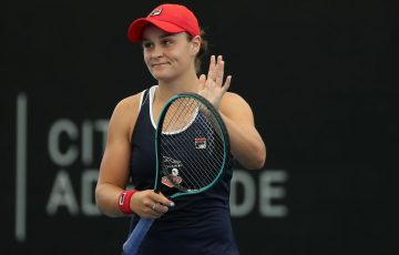 Ash Barty progresses to the quarterfinals of the Adelaide International; Getty images