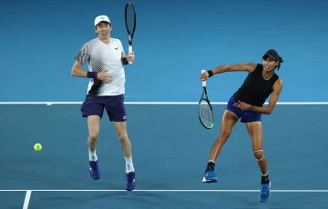 Astra Sharma and John-Patrick Smith compete in the mixed doubles at Australian Open 2020; Getty Images