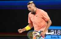 Nick Kyrgios celebrates victory over Gilles Simon in the second round of Australian Open 2020. (Getty Images)