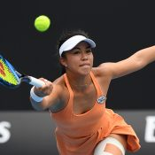 Lizette Cabrera in action during her first-round loss to Ann Li at Australian Open 2020. (Getty Images)