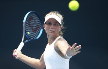 Maddison Inglis in action during the first round of Australian Open 2020 qualifying. (Getty Images)