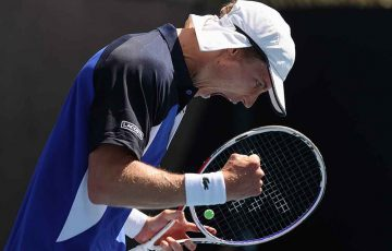 A spirited Marc Polmans claims a first Grand Slam main draw win at AO 2020: Getty Images