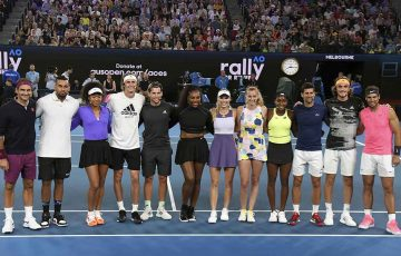 Tennis stars come together at Rally for Relief; Getty Images