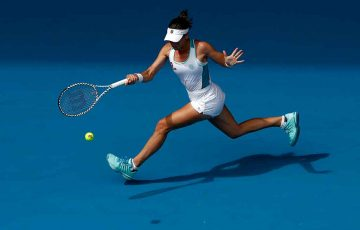 Ajla Tomljanovic at the Australian Open; Getty Images