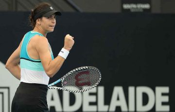 Ajla Tomljanovic next meets second seed Simona Halep at the Adelaide International; Getty Images