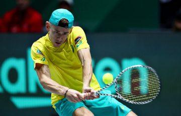 Alex de Minaur at the 2019 Davis Cup final; Getty Images