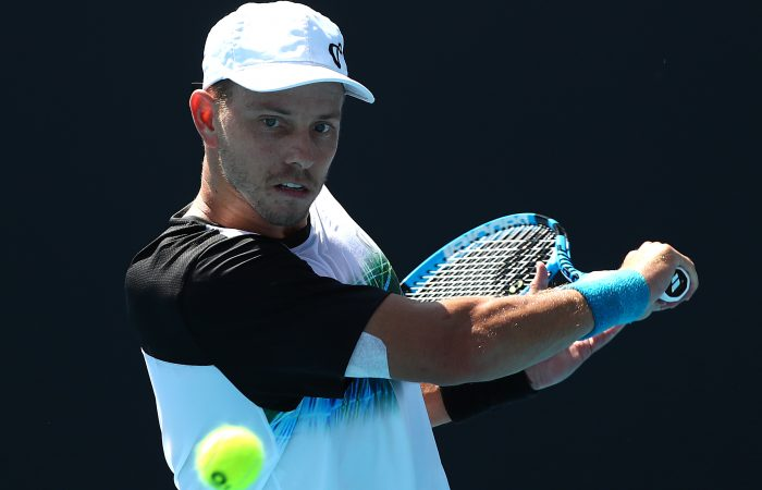 MOVING ON: James Duckworth is into the quarterfinals at the ATP tournament in Pune; Getty Images