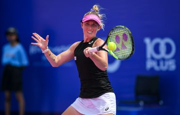 Storm Sanders in action at the WTA Thailand Open in Hua Hin. (photo: GSB Thailand Open presented by E@)