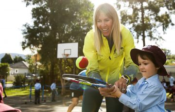 Alicia Molik is pleased to see school students playing tennis in the backyard during the COVID-19 pandemic. Picture: Getty Images