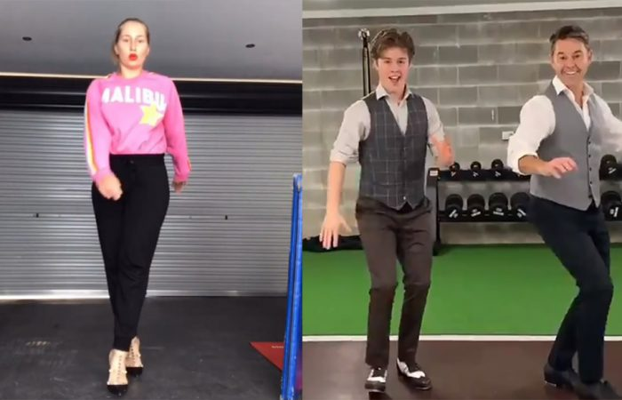Daria Gavrilova and Todd Woodbridge show off their dance moves. Pictures: Instagram