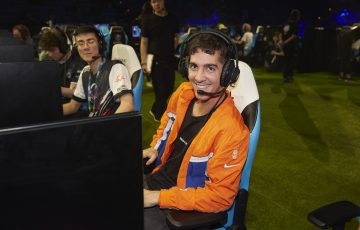 ONLINE: Thanasi Kokkinakis competing at the Celebrity Pro Am Fortnite tournament at Australian Open 2020. Picture: Getty Images