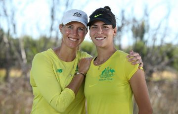 Australian Fed Cup captain Alicia Molik with Ajla Tomljanovic understands the importance of building player-coach relationships. Picture: Getty Images