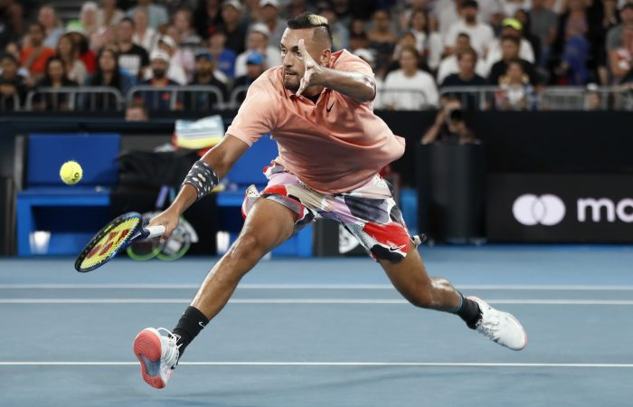 IN ACTION: Nick Kyrgios during his Australian Open 2020 clash with Karen Khachanov. Picture: Getty Images