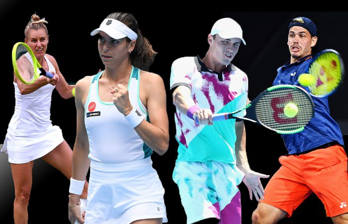BACK STRONGER: Australian players Monique Adamczak, Ajla Tomljanovic, Christopher O'Connell and Alex Bolt have all experienced career-highs after extended breaks.