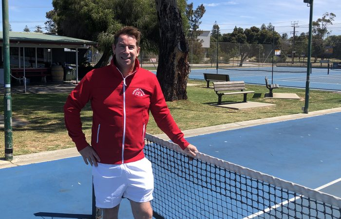 HARD WORKER: Darren Wunderer at the Henley South Tennis Club.