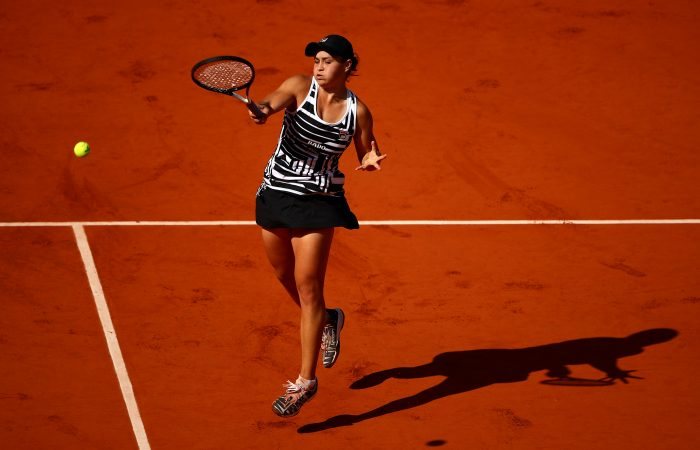 Ash Barty in action at Roland Garros in 2019. Picture: Getty Images