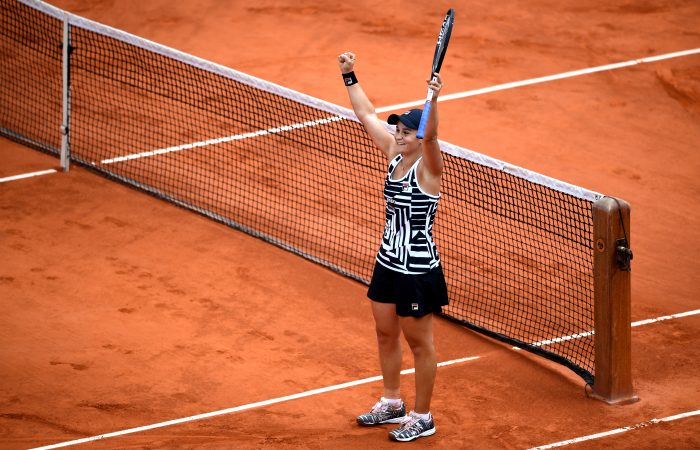 A SPECIAL MOMENT: Ash Barty celebrates winning Roland Garros in 2019. Picture: Getty Images