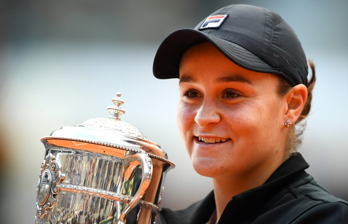 CHAMPION: Ash Barty celebrates her Roland Garros victory in 2019. Picture: Getty Images