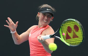 IN FORM: Storm Sanders in action at Australian Open 2020 qualifying. Picture: Getty Images