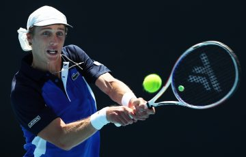 IMPROVING: Marc Polmans in action at Australian Open 2020. Picture: Getty Images