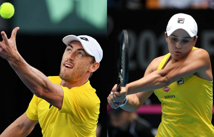 John Millman and Ash Barty love representing Australia.