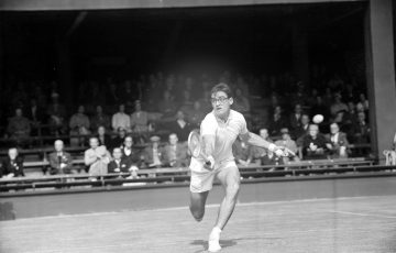 Don Candy competes at Wimbledon in 1958; Hulton Archive / Getty Images