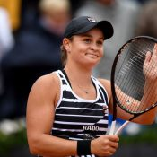 Ash Barty celebrates at Roland Garros; Getty Images