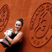 Ash Barty celebrates her 2019 Roland Garros victory; Getty Images