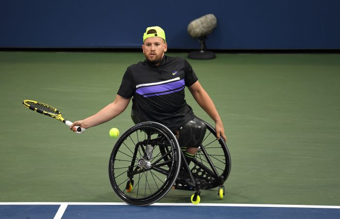 NEW YORK: Dylan Alcott in action at the US Open in 2019. Picture: Getty Images