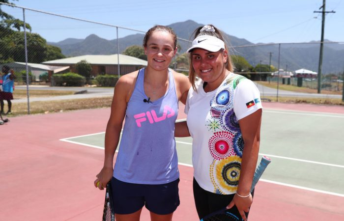 Mikayla Zahirovic with Ash Barty in Cairns.