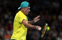 DETERMINED: Alex de Minaur in action at the ATP Cup in January 2020. Picture: Getty Images