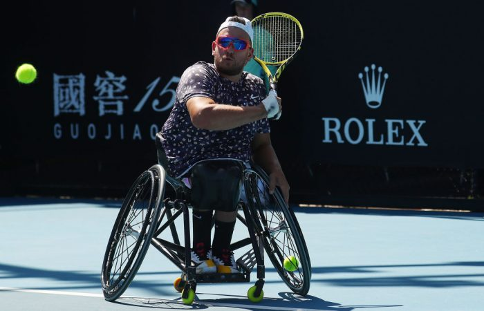 Dylan Alcott at Australian Open 2020; Getty Images